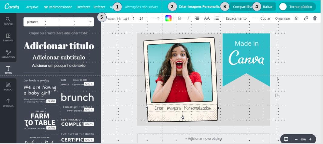 Criar Imagens Personalizadas